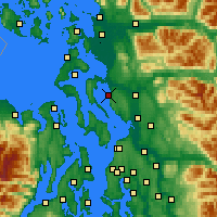 Nearby Forecast Locations - Stanwood - Mapa