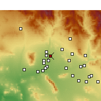Nearby Forecast Locations - Sun City - Mapa