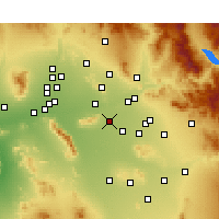 Nearby Forecast Locations - Tempe - Mapa