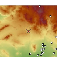 Nearby Forecast Locations - Wickenburg - Mapa