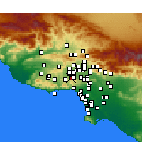 Nearby Forecast Locations - Woodland Hills - Mapa