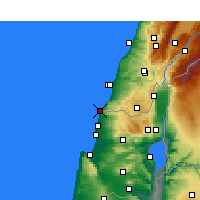 Nearby Forecast Locations - Naqoura - Mapa